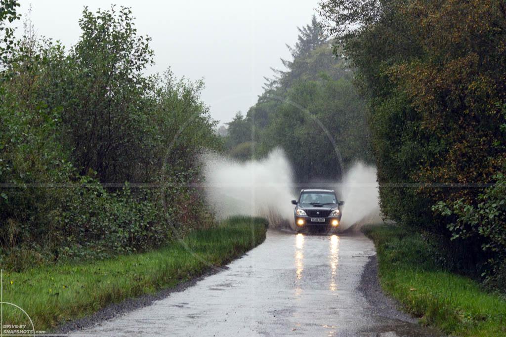 Hyundai Terracan in torrential rain   Drive-by Snapshots by Sebastian Motsch (2013)