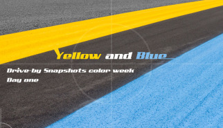 Color Week Yellow and Blue | Drive-by Snapshots by Sebastian Motsch (2014)