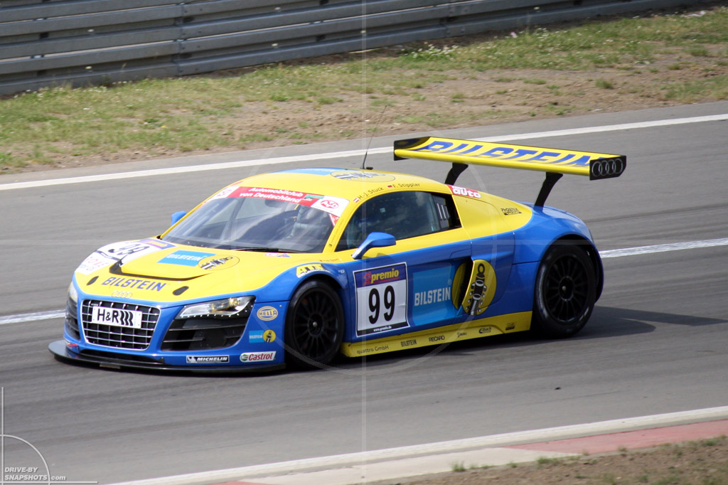 dbs Yellow and Blue Audi R8 GT3 |Drive-by Snapshots by Sebastian Motsch (2014)