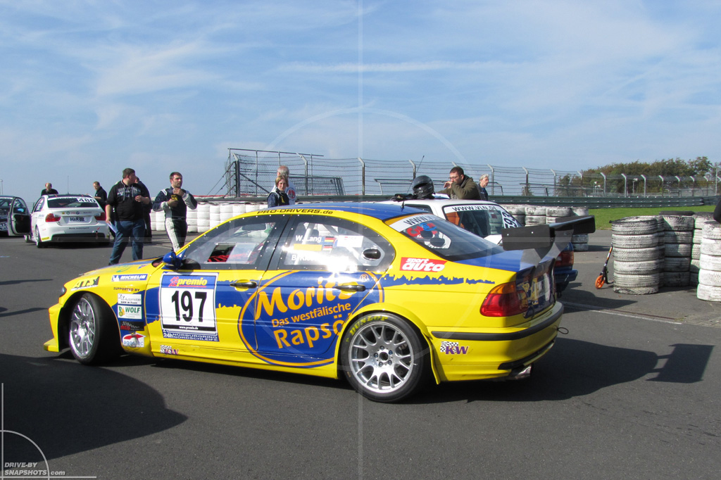 dbs Yellow and Blue BMW E46 VLN race car | Drive-by Snapshots by Sebastian Motsch (2014)
