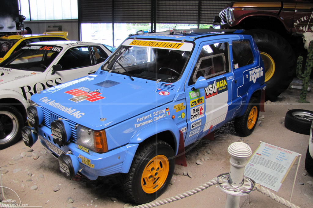 dbs Yellow and Blue FIAT Panda 4x4 Rallye | Drive-by Snapshots by Sebastian Motsch (2014)