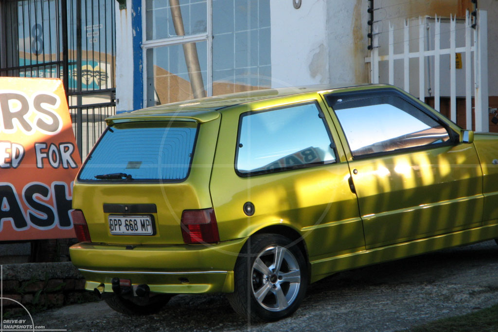 dbs Yellow and Blue FIAT Uno Mk2 | Drive-by Snapshots by Sebastian Motsch (2014)