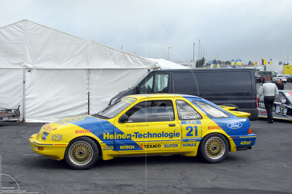 dbs Yellow and Blue Ford Sierra XR4i | Drive-by Snapshots by Sebastian Motsch (2014)