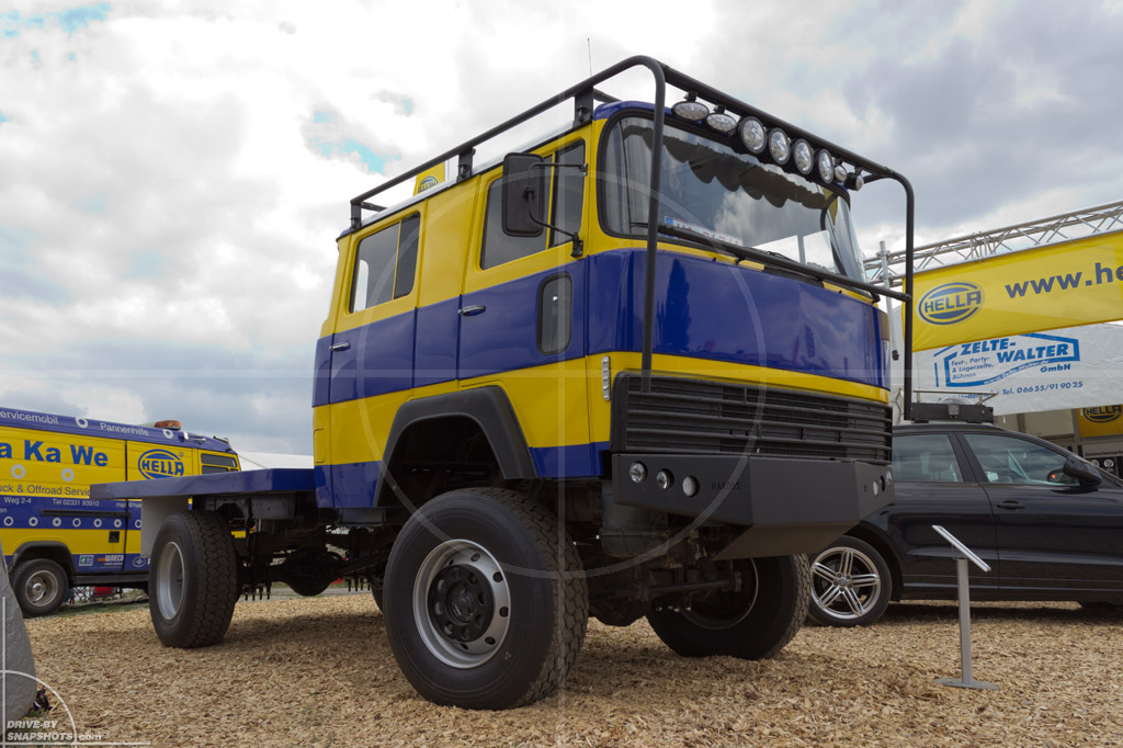 dbs Yellow and Blue Magirus Double Cab Hella | Drive-by Snapshots by Sebastian Motsch (2014)
