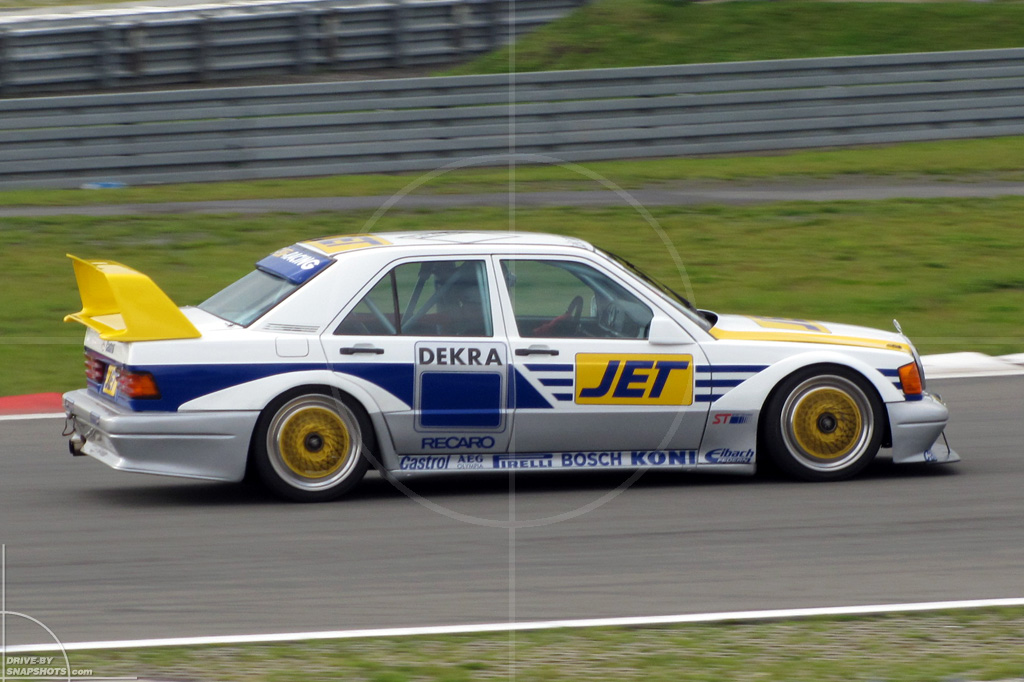 dbs Yellow and Blue Mercedes-Benz 190E 25-16 Evo2 JET | Drive-by Snapshots by Sebastian Motsch (2014)