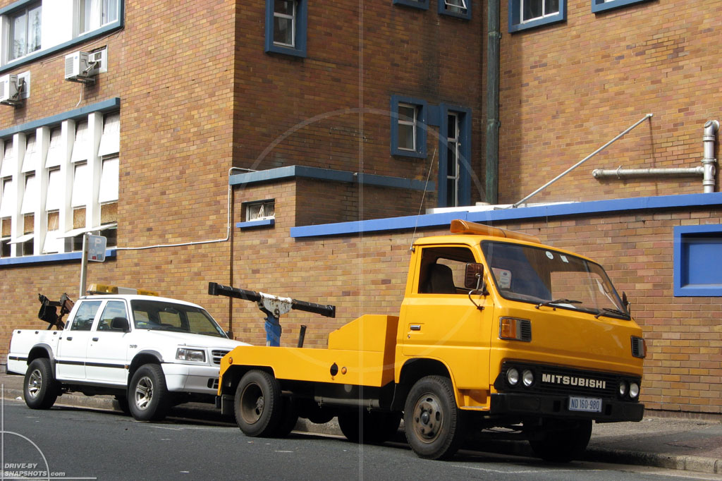 dbs Yellow and Blue Mitsubishi Wrecker Durban ZA | Drive-by Snapshots by Sebastian Motsch (2014)