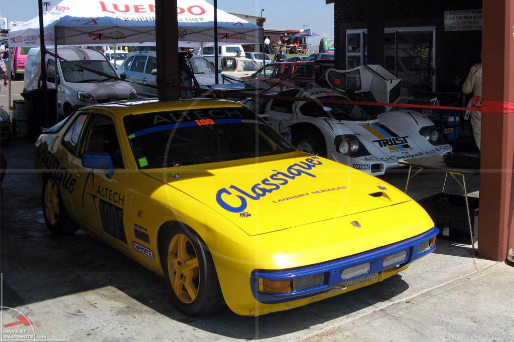 dbs Yellow and Blue Porsche 924 Cup race car Zwartkops Raceway ZA | Drive-by Snapshots by Sebastian Motsch (2014)
