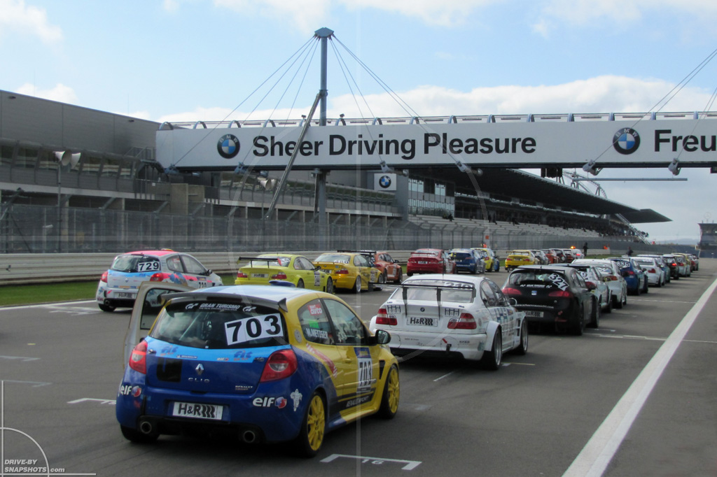 dbs Yellow and Blue Renault Clio Cup VLN   Drive-by Snapshots by Sebastian Motsch (2014)