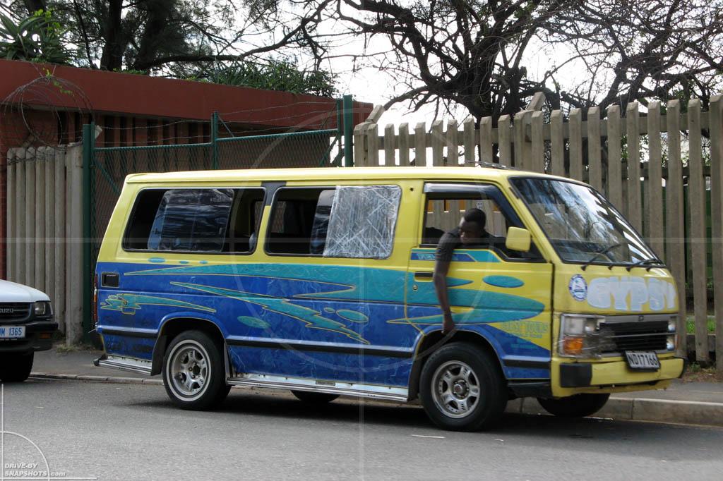 dbs Yellow and Blue Toyota Hiace Siyaya Taxi Durban | Drive-by Snapshots by Sebastian Motsch (2014)