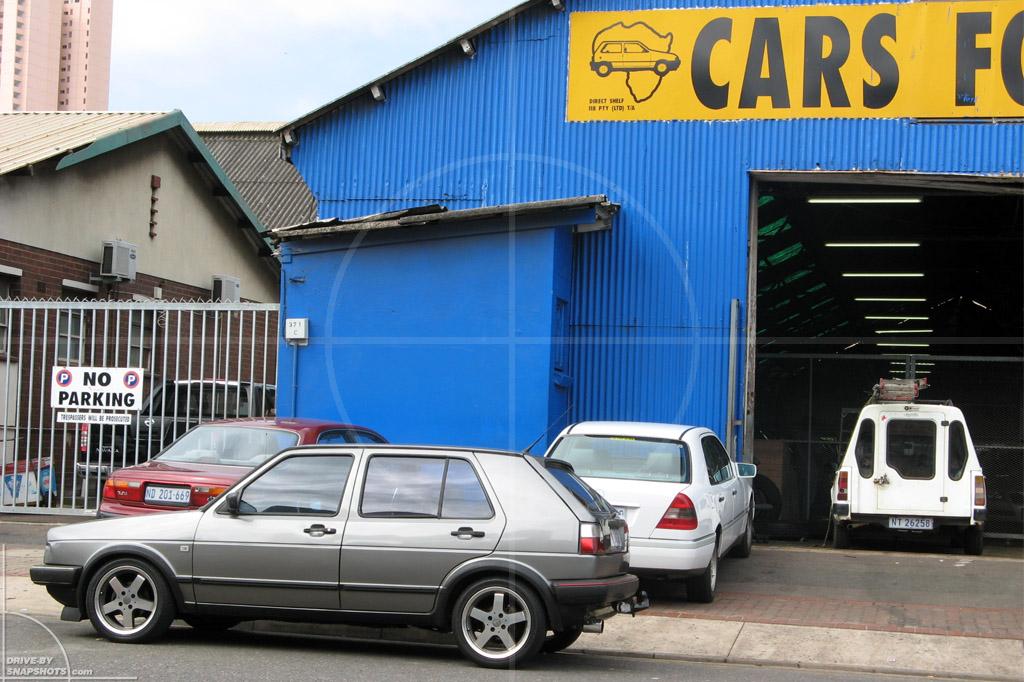 dbs Yellow and Blue VW Golf Mk2 Durban   Drive-by Snapshots by Sebastian Motsch (2014)