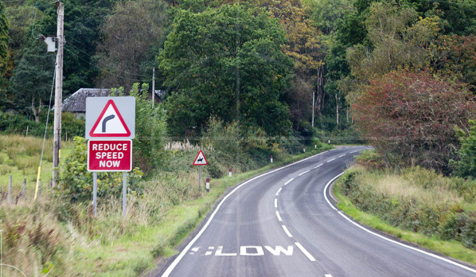 Reduce Speed Now Scotland | Drive-by Snapshots by Sebastian Motsch (2013)