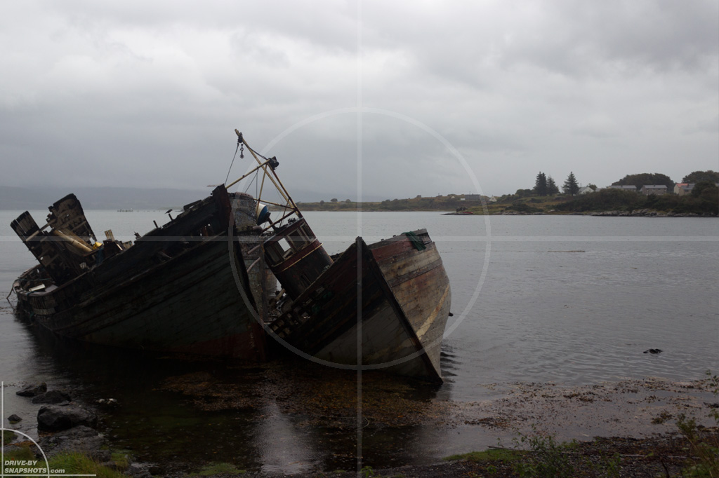 Ship wrecks Isle of Mull | Drive-by Snapshots by Sebastian Motsch (2013)