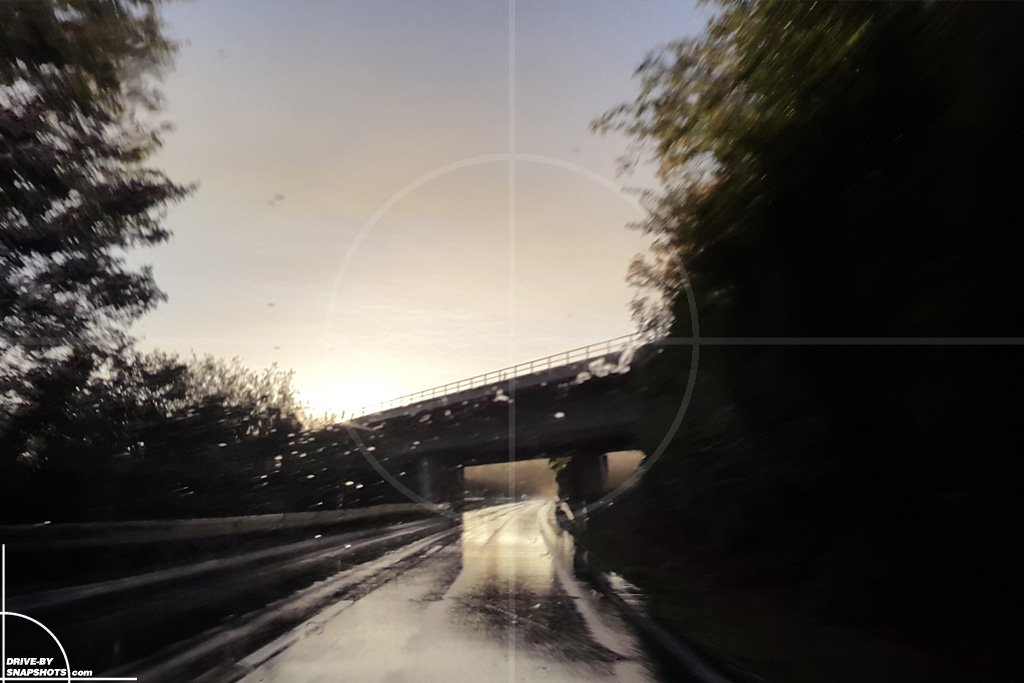 Sunset Snapshot on wet road 02 | Drive-by Snapshots by Sebastian Motsch (2015)