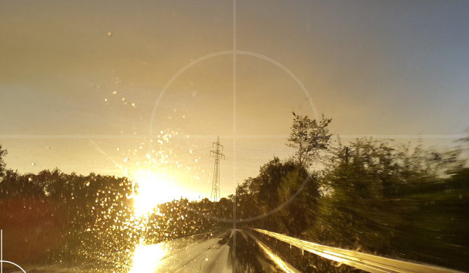 Sunset Snapshot on wet road 03 | Drive-by Snapshots by Sebastian Motsch (2015)