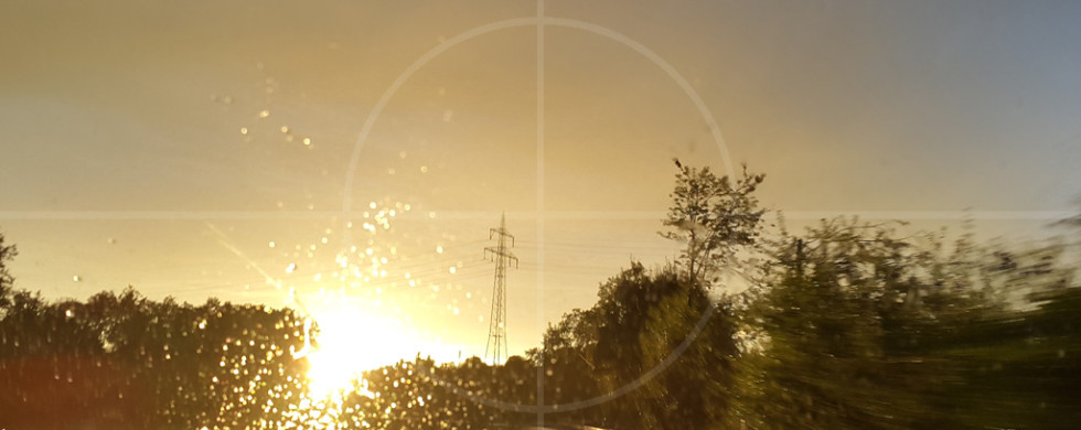 Sunset Snapshot on wet road 03 | Drive-by Snapshots by Sebastian Motsch (2015)