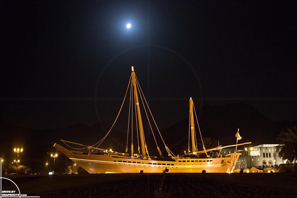 Majlis Oman Roundabaut with ship | Drive-by Snapshots by Sebastian Motsch (2016)