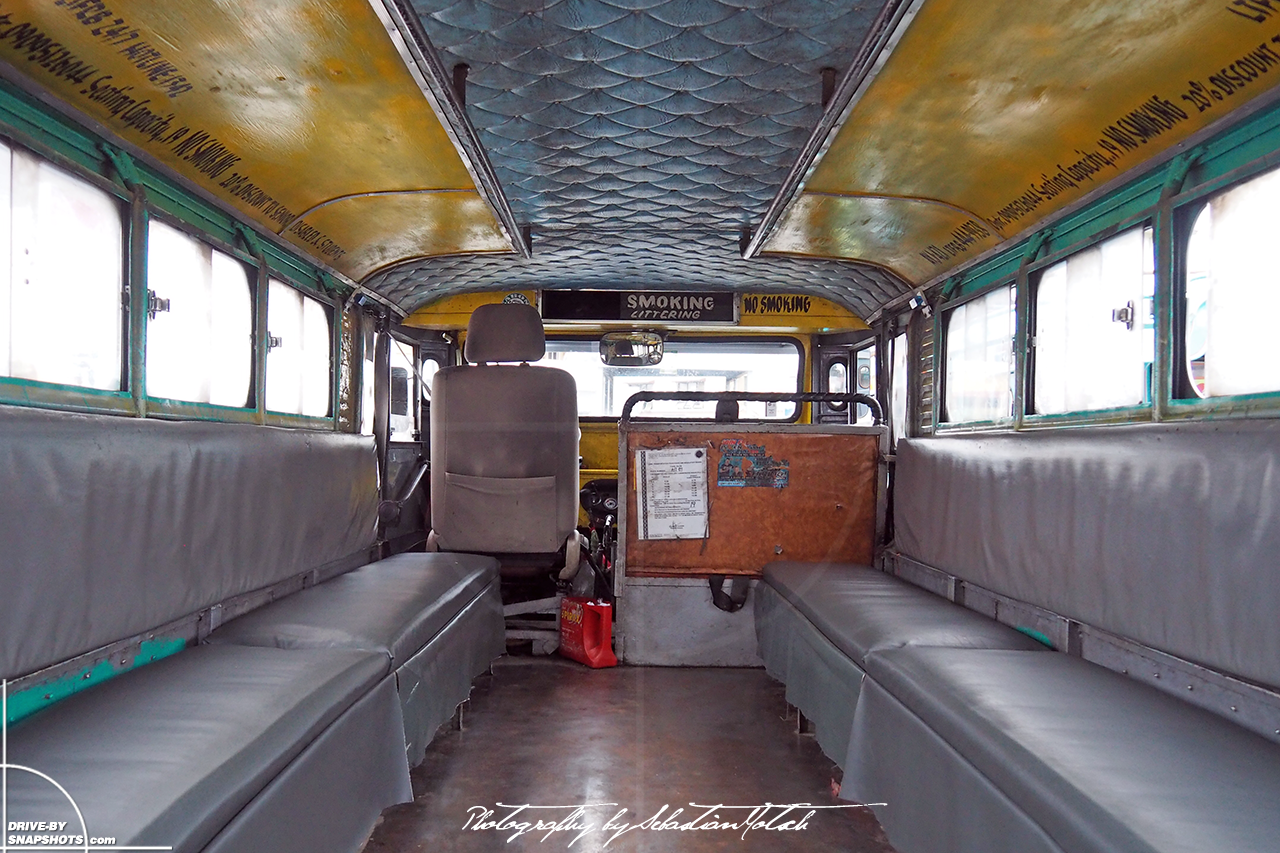 Jeepney interior in Baguio Philippines | Drive-by Snapshots by Sebastia Motsch (2017)