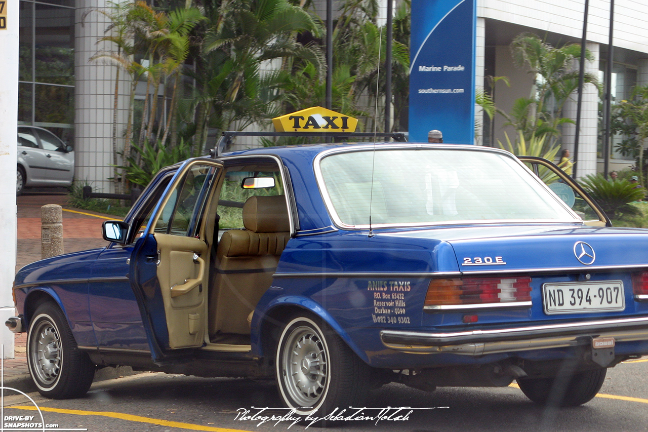 Mercedes-Benz W123 Taxi Durban South Africa | Drive-by Snapshots by Sebastian Motsch (2008)