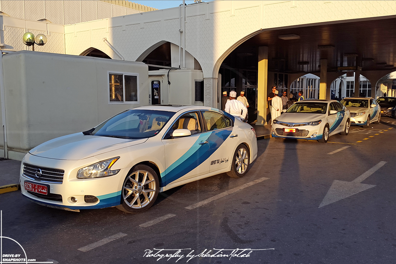Nissan Altima Airport Taxi MCT Muscat Oman | Drive-by Snapshots by Sebastian Motsch (2015)