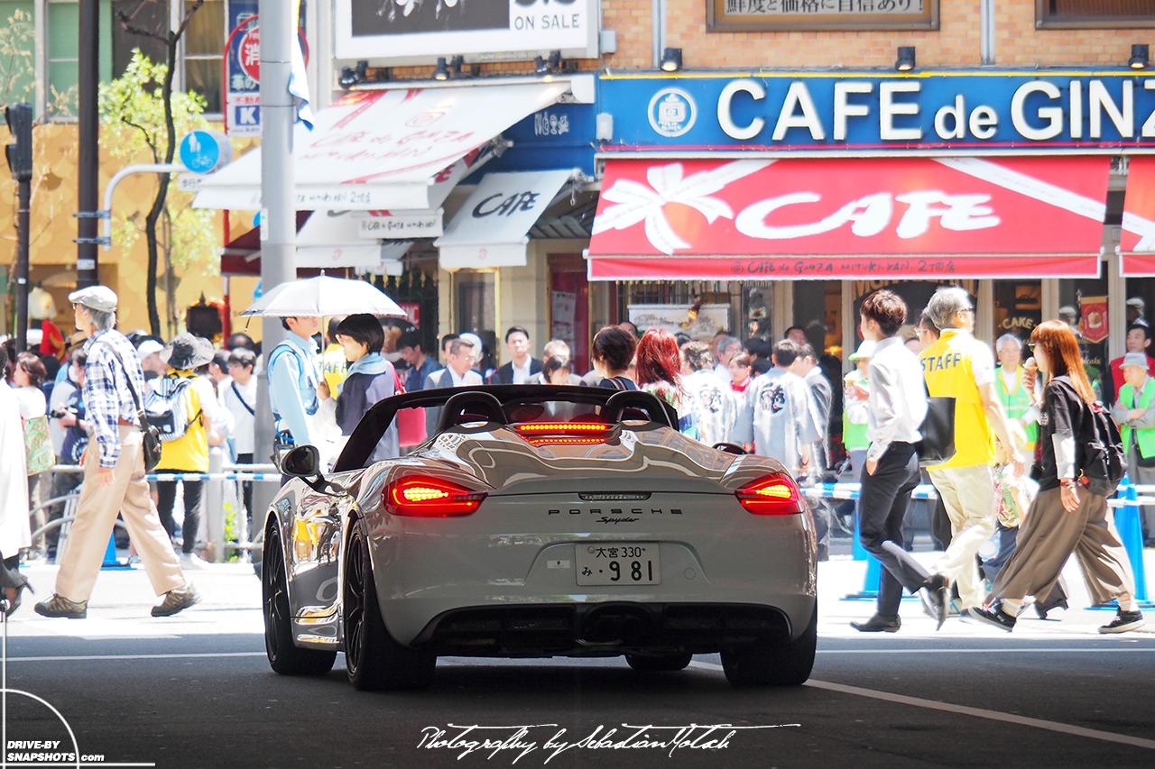 Porsche Boxster Spyder 981 Ginza Tokyo | Drive-by Snapshots by Sebastian Motsch (2017)