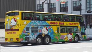 Suzuki Swift Sport and Hello Kitty coach Tokyo Station   Drive-by Snapshots by Sebastian Motsch (2017)