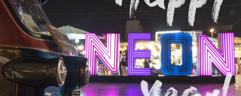 TukTuk Happy New Year Bangkok Neon Nightmarket | travel photography by Sebastian Motsch (2018)
